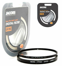 JACOBS SUPER SLIM UV Multi Coated MC Filtro 77mm per Nikon Canon Sony Nuovi