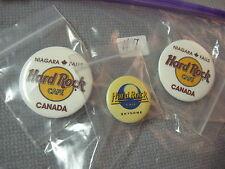 Lot Of 3 NEW Hard Rock Cafe Button Pins Niagara Falls Canada & Small SkyDome