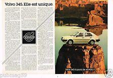 Publicité advertising 1982 (2 pages) Volvo 345