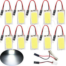10Pcs COB 21SMD LED T10 Festoon Dome Panel Light Car Interior Map Bulb 32mm*16mm