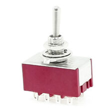6A/125VAC 2A/250VAC 12 Pin 4PDT ON/ON 2 Position Mini Toggle Switch SY AU