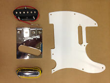 ELECTRIC GUITAR SCRATCHPLATE, 2 PICKUPS, CHROME BRIDGE, ALL SCREWS ARE INCLUDED