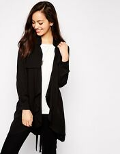 NEW JOVONNA @ TOPSHOP SOFT TRENCH DUSTER STYLE JACKET LIGHTWEIGHT SMART LOOK