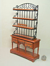 Dollhouse Miniature Hutch with Separate Shelves
