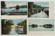 NICE  Lot of 9 - Fulton Chain Lakes Ships Adirondacks Postcards 1903- etc EARLY