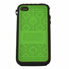 MUSUBO Hard Plastic Case Swappable Back Cover - Apple iPhone 4/4S GREEN + PURPLE