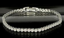 Sterling Silver Micro Pave CZ Bling Stones Ladies 3mm Tennis Bracelet 7""
