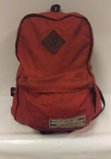 Vtg WILDERNESS EXPERIENCE BACKPACK LEATHER USA BOOKBAG BAG PACK Hiking Camping