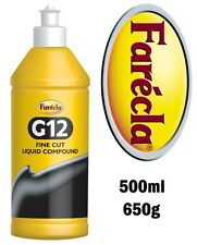 Farecla G12 500ml Fine Cut Liquid Compound Removes Scratches & Swirls 0.5lt