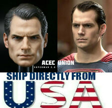 1/6 Henry Cavill Superman Head Sculpt Clark Kent 2.0 For Hot Toy - U.S.A. SELLER