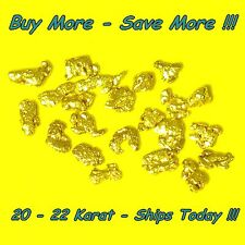 .205 Gram Natural Raw Alakan Gold Nugget Placer Panned  Flake Fines from Alaska
