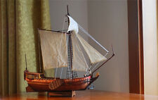 Scale 1/80 Laser-cut Wooden sailboat Model kit: The Dutch royal yacht sail boat