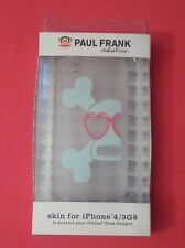 PAUL FRANK CASE SKIN IPHONE 4 iPHONE 3GS CLEAR SKULL HEART SHAPED EYES