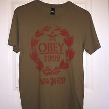 Obey Men's Crew Neck Graphic Short Sleeve Cotton T-Shirt - Small