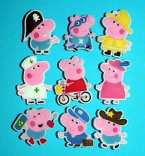 9 Peppa Pig Shoe Charms Party Favours Piñata Toys Cake Decorations Party NEW