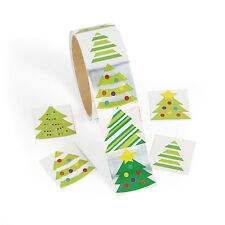 300 SHINY FOIL Christmas TREE Stickers Card Seals Gift Bags Scrapbooking