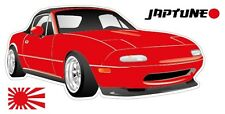 Mazda Miata MX5  Style Sticker - Red with Enkei Style Rims - JapTune Brand