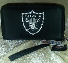 Oakland Raiders NFL Cell Phone Wallet Rhinestone Bling NFL Licensed!