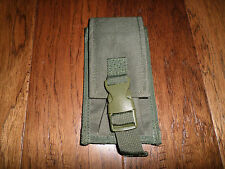 9MM TACTICAL DUAL MAG CLIP AMMUNITION POUCH 9 MM AUTO QUICK RELEASE GREEN NYLON