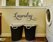 LAUNDRY Words Lettering Vinyl Wall Decal Quote Sticker Home Decor