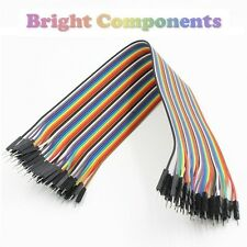 40pcs Dupont Jumper Ribbon Cable : 30cm : Male-Male : UK : 1st CLASS POST