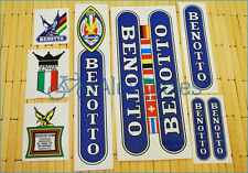 Rare BENOTTO Restoration Decals Kit  Yellow ST Set Campagnolo Vintage + 17 GIFT