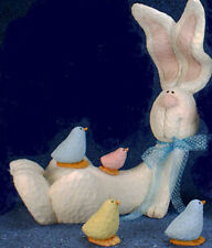 Ceramic Bisque Ready to Paint Lounging Beanstalk Bunny & Peeps