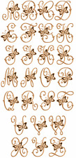 "ABC Designs Cutwork Butterflies Machine Embroidery Font for 5""x7"" hoop"