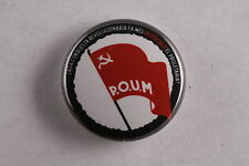 "Spain Spanish POUM Communist Party Trotskyist Civil War 1"" Button Badge Pin"