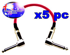 """From OZ Quality 5PC 12"""" Guitar Patch Lead Wire Cable Right Angle Ends Pink +F.P!"""