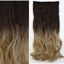 "Long Luxury Curly Straight 18-30"" Clip In Hair Extensions Full Head For Human FQ"