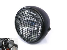 "7.7"" Black Mesh Grill H4 55W Retro Headlight for Honda Cafe Racer Scrambler"