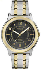 Timex TW2P61900 Men's Bank Street Two Tone Indiglo Expansion Band Watch