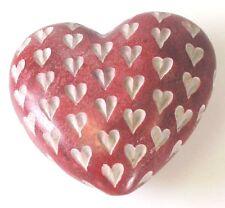 Piedra De Los Cuervos medianas Corazón Rojo Hecho A Mano Decoración De Piedra