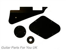 Les paul BLACK 1 ply plastics kit  pick guard switch ring control cover etc