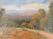 Original Oil Painting Australian Impressionist Artist Enoch Hlisic LYSTERFIELD