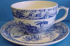SPODE BLUE ROOM 20 FLUID OUNCE JUMBO CUP & SAUCER INDIAN SPORTING