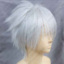321 Dramatical Murder DMMD Clear Short Silver White Cosplay Wig Free shipping