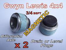 2 x Land Rover Magnetic Diff Drain Bung ARB Diff Locker Level Plug Gwynn Lewis