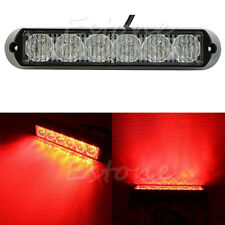 6 LED DRL Car Truck Emergency Beacon Lamp Light Bar Hazard Strobe Warning Red