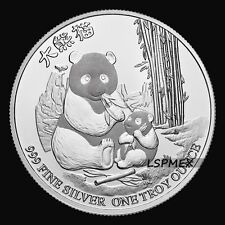 2017 Niue $2 NUD FV Chinese Panda 1 Troy Ounce .999 Silver Bullion BU Round Coin