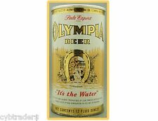 Olympia Beer Can Refrigerator / Tool Box Magnet Man Cave Gift Card Insert