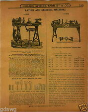 1915 PAPER AD Lathe Foot Pedal Power Barnes All Iron