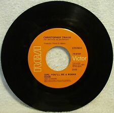 """Christopher Travis """"Girl, You'll Be A Woman"""" 1969 Single 45RPM 7"""" RCA 0187 (EX)"""