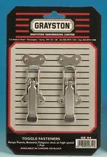 Grayston Competition Pair Chrome Large Toggle Fasteners for Boots Bonnets (GE64)