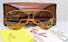 "RAY-BAN *NOS B&L VINTAGE AVIATOR ""OSTRICH"" LEATHERS *CHANGEABLES *NEW SUNGLASSES"
