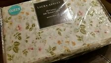 NEW LAURA ASHLEY 4PC QUEEN SHEET SET SPRING BLOOM FLORAL PINK GREEN YELLOW
