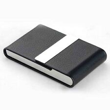 Black Leather Tobacco Cigarette Holder Business Card Storage Case Box Container