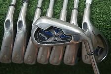 Callaway X-18 Pro Series 3-PW Iron Set Steel Stiff Flex Irons Good 228005 Used