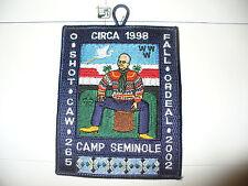 OA O Shot Caw Lodge 265,2002 Fal Ordeal,Camp Seminole Indian,pp,South Florida,FL